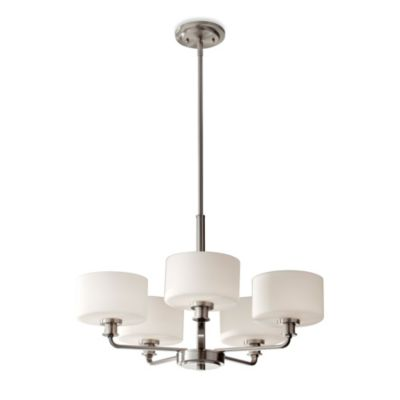 Feiss® Kincaid 5-Light Chandelier in Brushed Steel