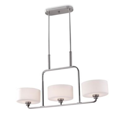 Feiss® Kincaid 3-Light Brushed Steel Chandelier