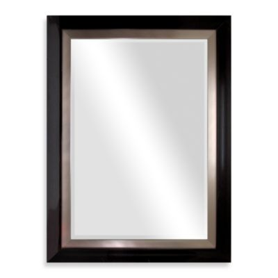 Biltmore 47-Inch x 35-Inch Wooden Veneer Mirror in Dark Brown