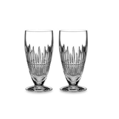 Waterford® Lismore Diamond Platinum Iced Beverage (Set of 2)