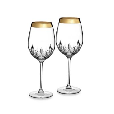 Waterford Lismore Essence Gold 19-Ounce Goblets (Set of 2)