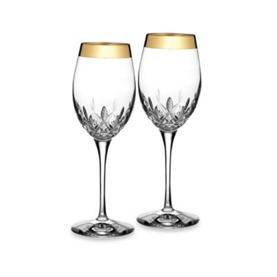 Waterford Lismore Essence Gold 14-Ounce Wine Glasses (Set of 2)