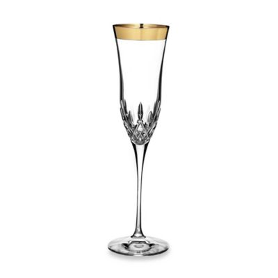 Waterford Lismore Essence Gold 8-Ounce Flutes (Set of 2)