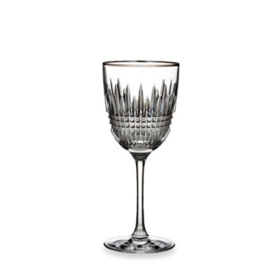 Waterford® Lismore Diamond Platinum Wine Stem (Set of 2)