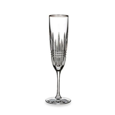 Waterford® Lismore Diamond Platinum Toasting Flute