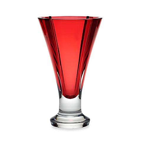 Waterford 174 Red Crystal Vase Bed Bath Amp Beyond