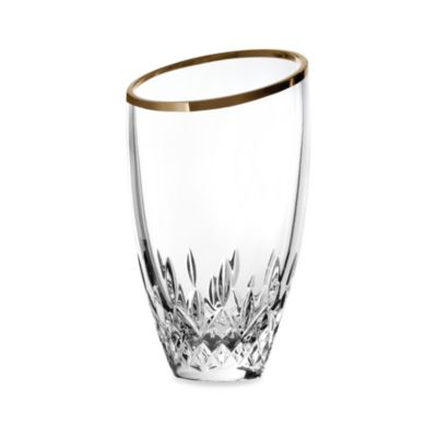 Waterford® Lismore Essence Gold 9-Inch Angular Vase