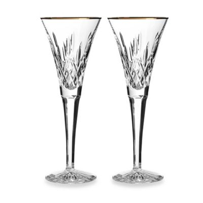 Waterford® Lismore Gold Toasting Flute (Set of 2)