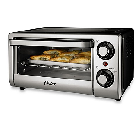 Oster® 4-Slice Toaster Oven in Silver - BedBathandBeyond.com