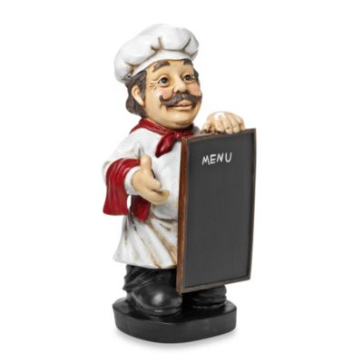 Decorative Tabletop 13.63-Inch Menu Chef