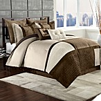 Clayton 8-Piece Comforter Set in Chocolate