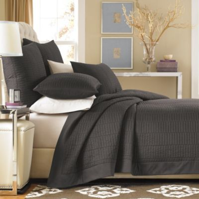 Charcoal Reversible Coverlet