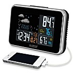 La Crosse® Weather Forecast Station in Black