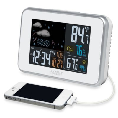 La Crosse® Weather Forecast Station in White