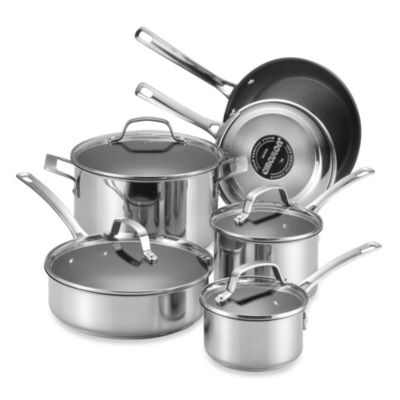 Circulon® Genesis™ Stainless Steel Nonstick 10-Piece Cookware Set