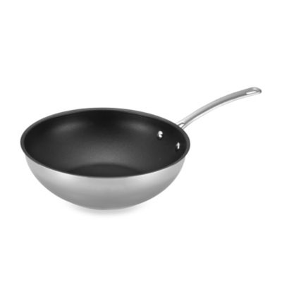 Circulon® Genesis™ Stainless Steel Nonstick 12.25-Inch Stir Fry Pan