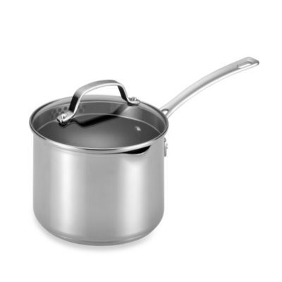 Circulon® Genesis™ Stainless Steel Nonstick 3-Quart Covered Straining Saucepan