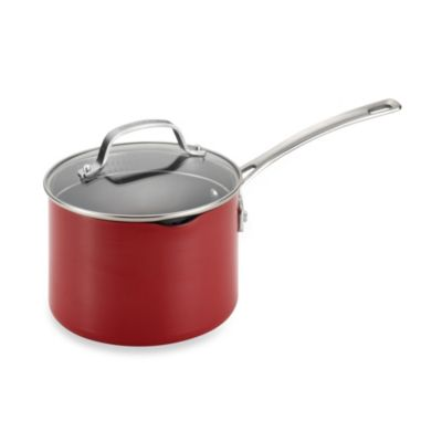 Circulon® Genesis™ Aluminum Nonstick 3-Quart Covered Straining Saucepan