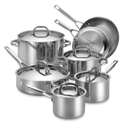 Anolon® Tri-Ply Clad Stainless Steel 12-Piece Cookware Set