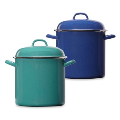 Columbian Home Products Grand Epicure 8-Quart Covered Stockpot in Blue