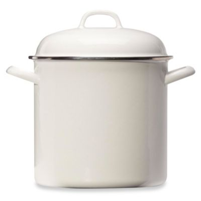 Columbian Home Products Grand Epicure 8-Quart Covered Stock Pot in White