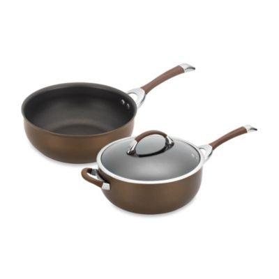 Circulon® Symmetry™ Hard Anodized Nonstick 6-Quart Covered Chef Pan in Chocolate
