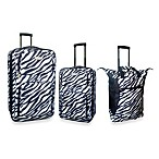 3-Piece Expandable Rolling Travel Set in Zebra