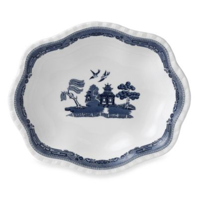 Johnson Brothers Willow Blue Scalloped Bowl