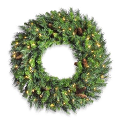 Vickerman 36-Inch Clear Light Cheyenne Pine Wreath