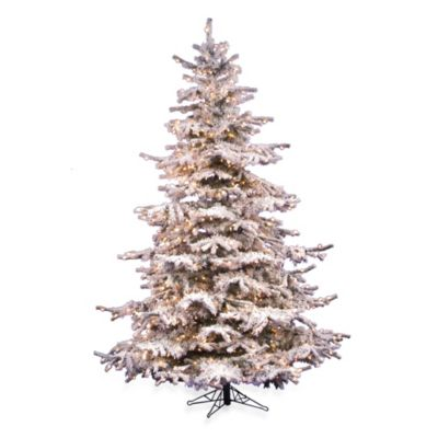 Vickerman 7.5-Foot Flocked Sierra Fir Tree with Clear Lights