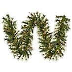 Vickerman 9-Foot 12-Inch Mixed Country Pine Garland Clear Lights