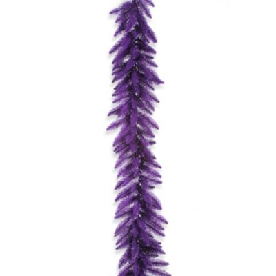 Vickerman 9-Foot x 14-Inch Purple Pre-Lit Garland with Purple Mini Lights