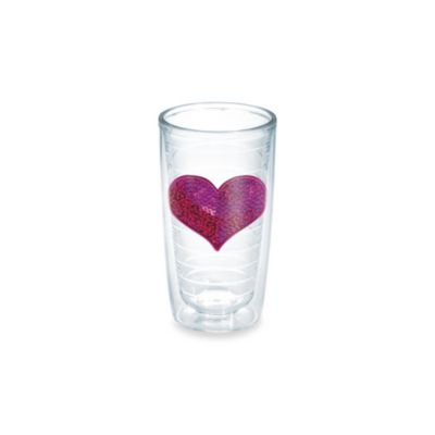Sequin Heart 10-Ounce Tumbler in Pink