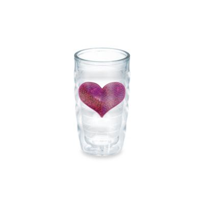 Tervis® Wavy Sequin Heart 10-Ounce Tumbler in Pink
