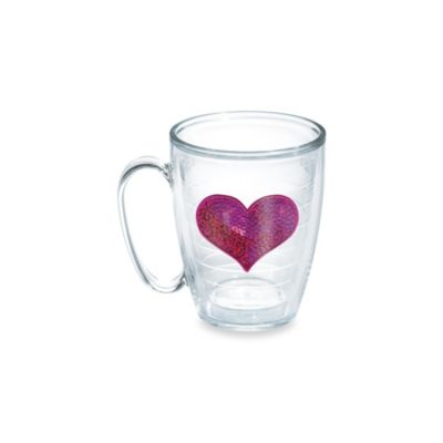 Tervis® Sequin Heart 15-Ounce Mug in Pink