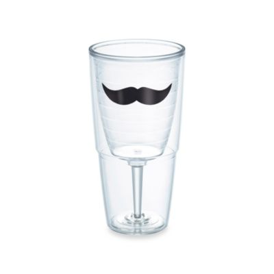 Mustache 16-Ounce Wine Goblet