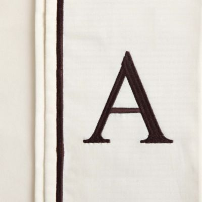 """Monogram Letter""""A"""" Queen Pillowcases in Ivory (Set of 2)"""