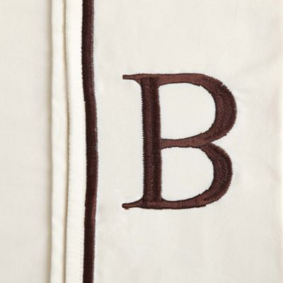 "Monogram Letter ""B"" Queen Pillowcases in White (Set of 2)"