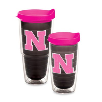 Tervis® University of Nebraska 16-Ounce Tumbler with Lid in Neon Pink