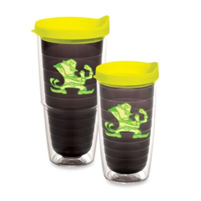 Tervis® University of Notre Dame 16–Ounce Tumbler with Lid in Neon Green