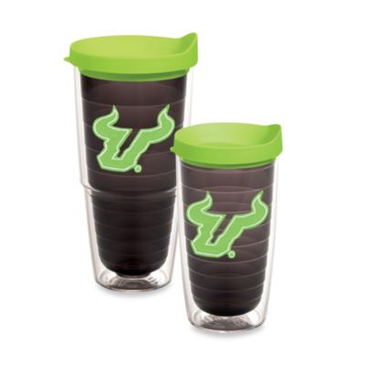 Tervis® University of South Florida 16-Ounce Emblem Tumbler with Lid in Neon Green/Black