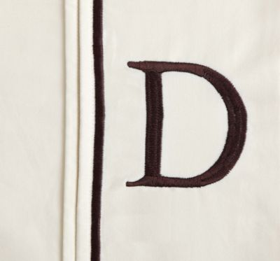 "Monogram Letter ""D"" Queen Pillowcases in Ivory (Set of 2)"