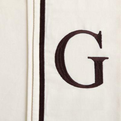 "Monogram Letter ""G"" Queen Pillowcases in Ivory (Set of 2)"