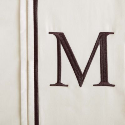 "Monogram Letter ""M"" Queen Pillowcases in Ivory (Set of 2)"