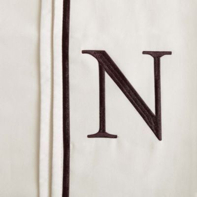 "Monogram Letter ""N"" Queen Pillowcases in Ivory (Set of 2)"
