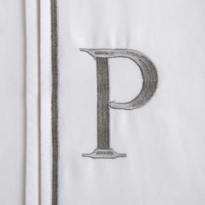 "Monogram Letter ""P"" Pillowcases (Set of 2)"