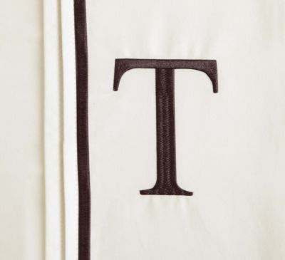 "Monogram Letter ""T"" Queen Pillowcases in Ivory (Set of 2)"