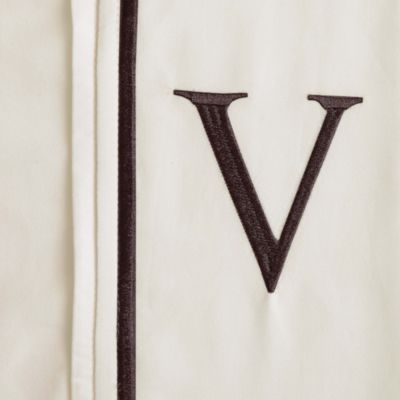 "Monogram Letter ""V"" Pillowcases (Set of 2)"