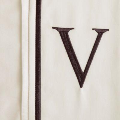 """Monogram Letter """"V"""" Pillowcases (Set of 2)"""