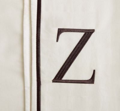 "Monogram Letter ""Z"" Queen Pillowcases in Ivory (Set of 2)"